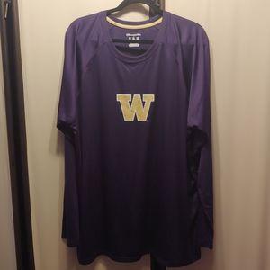 Washington UW Huskies long sleeve sport shirt